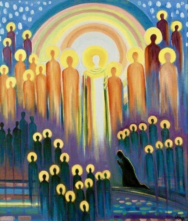All Saints, by Elizabeth Wang, accessed https://www.christianart.today/daily-gospel-reading/221
